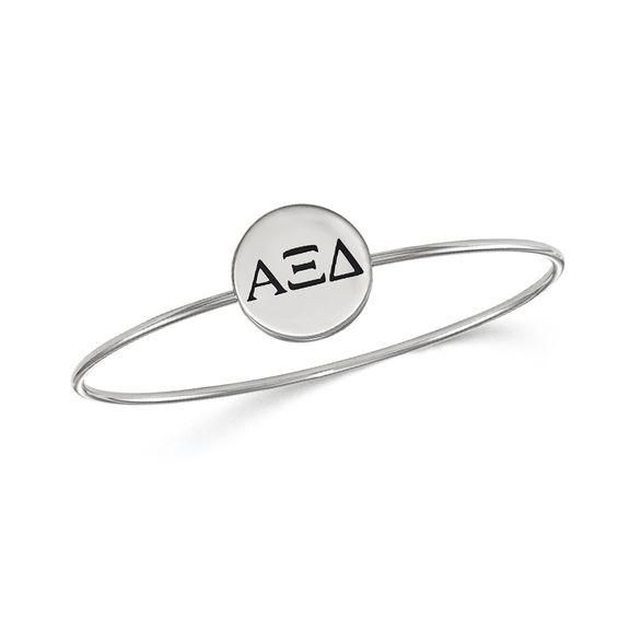 Zales Green Enamel Kappa Delta Sorority Slip-on Bangle in Sterling Silver G8AnTQexIO