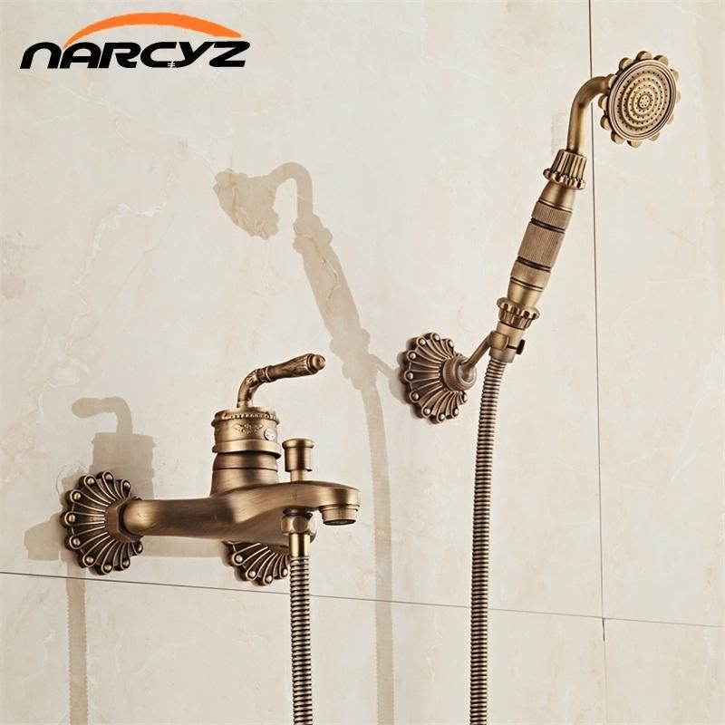 Buy European Style Antique Retro Bathroom Shower Faucet Copper Brass ...
