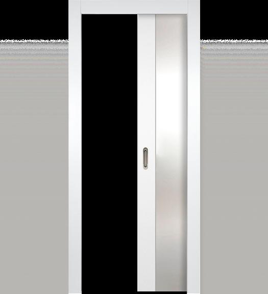 Alba White Pocket Interior Door Contemporary Almese Doors Doors Interior Glass Doors Interior Glass Pocket Doors
