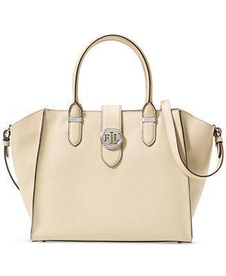 Lauren Ralph Lauren Charleston Small Shopper - Handbags   Accessories -  Macy s 8e4055a1d43ca