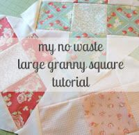 my no waste large granny square tutorial.Via...Notes of Sincerity.