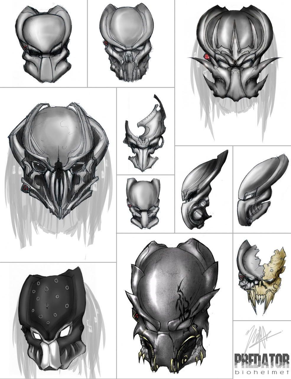 Predator Mens Yautja Skull Tank Top