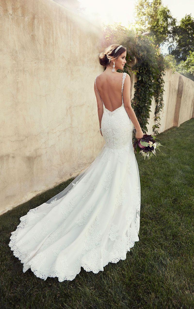 2afc6f9d8e34 Perfect Open Back Ivory Lace Mermaid Backless Wedding Dress | Stuff ...
