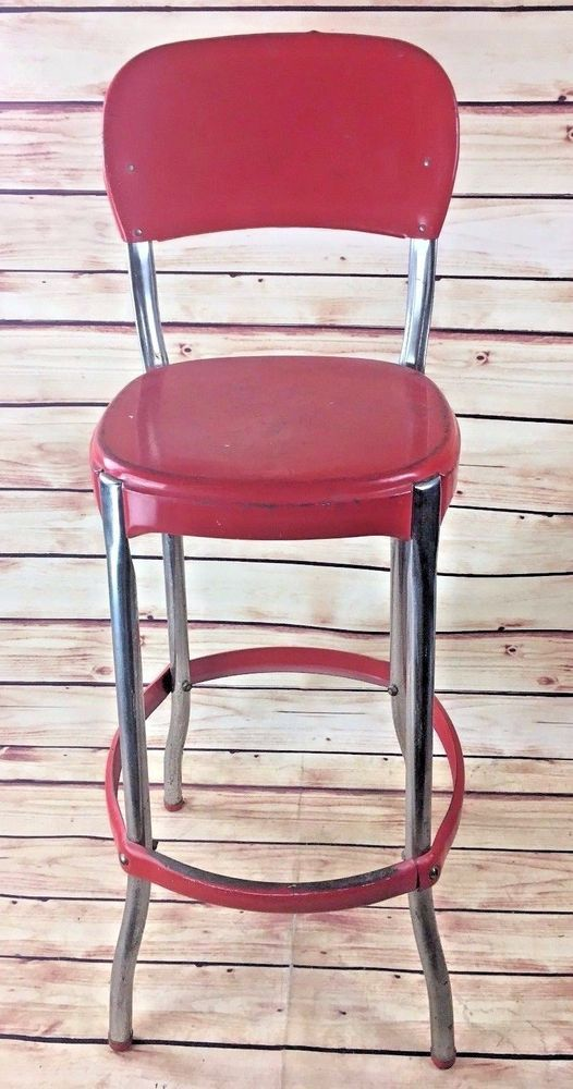vintage metal cosco bar stool chair kitchen mid century