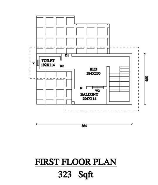 Low cost bedroom double storey home in sqft for lakhs free kerala plans also rh pinterest