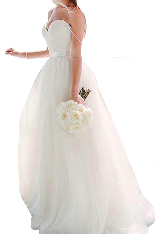 Honey qiao white spaghetti straps wedding dresses tulle sash boho