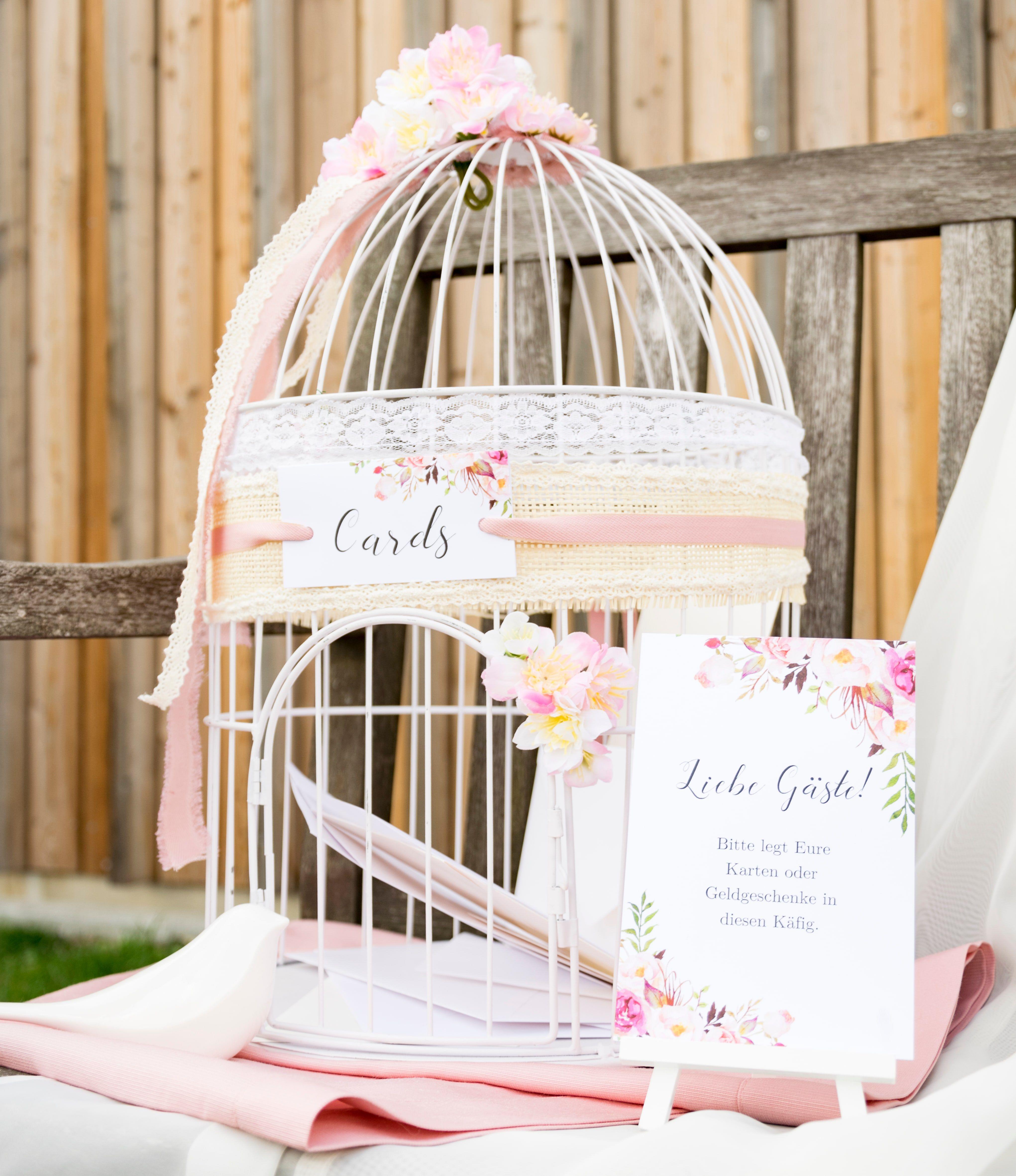 Der Vintage Vogelkafig Als Briefbox Und Die Bitte Um Geldgeschenke
