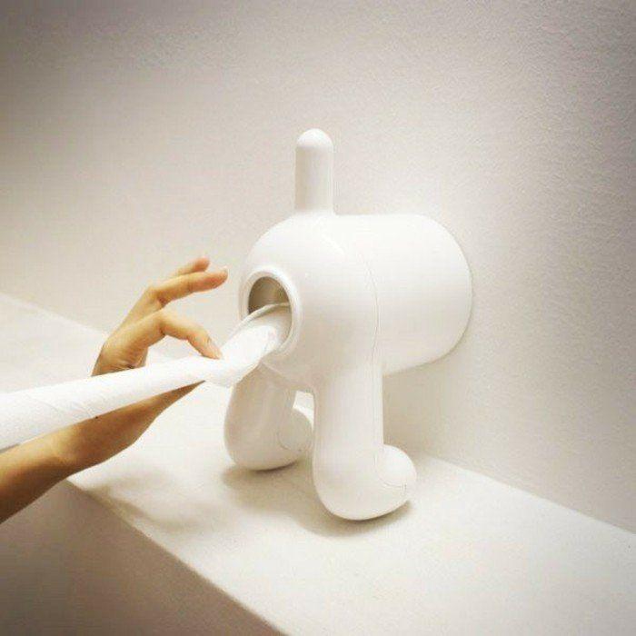 originelle toilettenpapierhalter badaccessoires lustige ideen, Badezimmer ideen