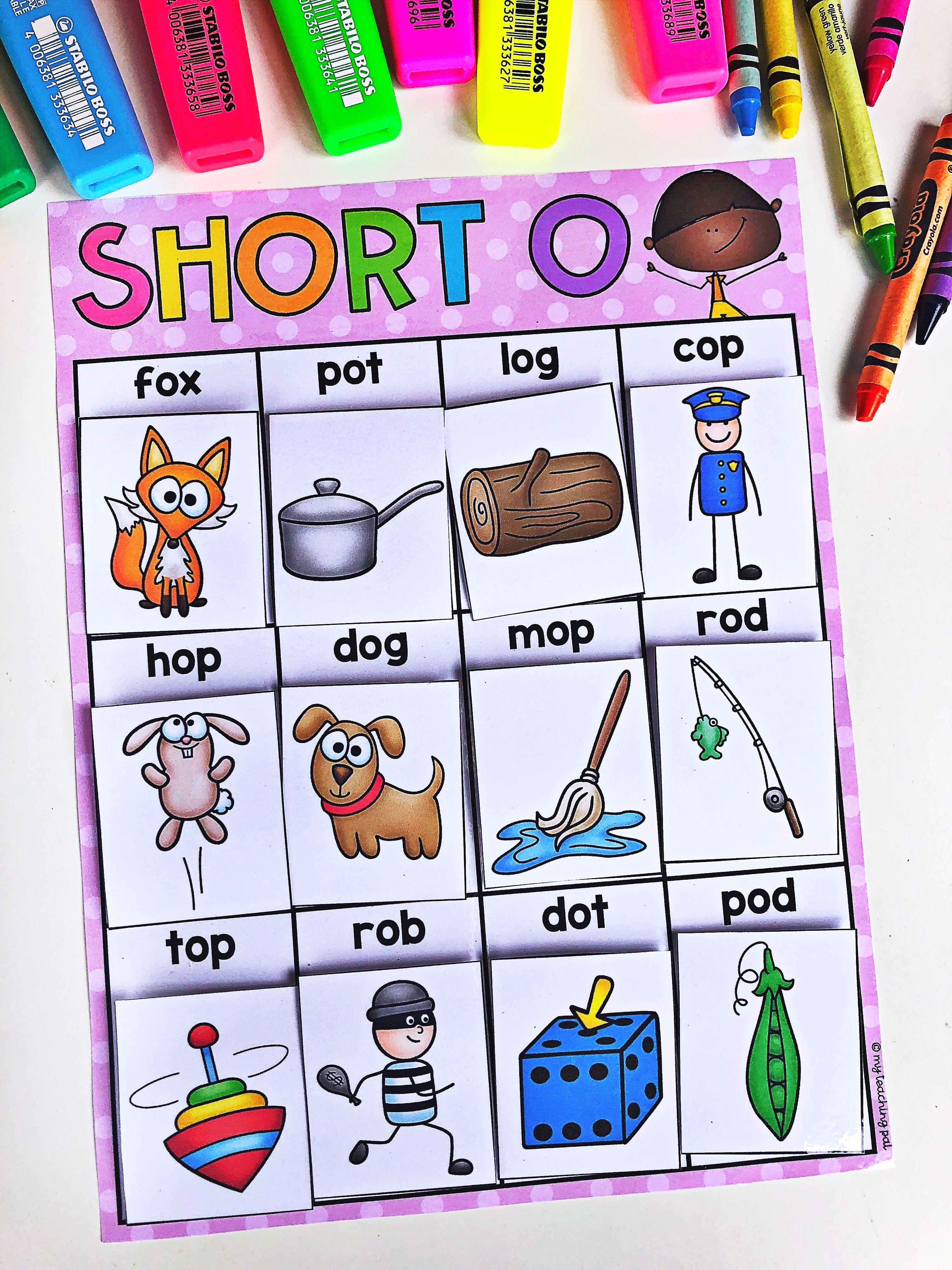 Kindergarten Literacy Centers - Beginning Sounds, CVC and Letters
