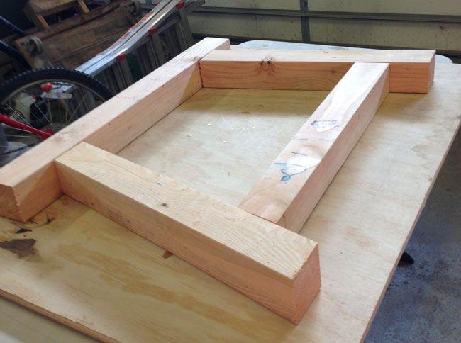 How to Build a 4×4 Farmhouse Table Trabajos en madera, Mesas y Madera - como hacer bancas de madera para jardin