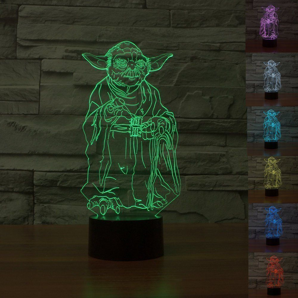Check Out This Yoda Lamp Quot Cool Is It Hmm Quot With Images Star Wars Light Saber 3d Night Light
