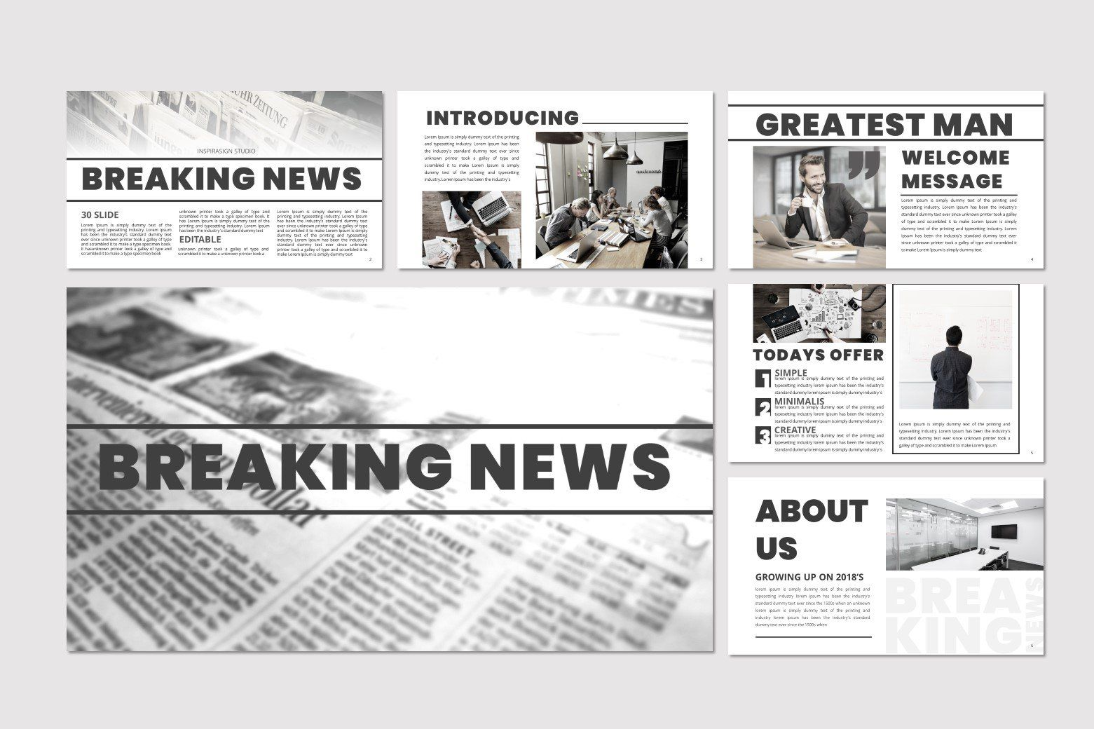 Breaking News Powerpoint Template Powerpoint Templates