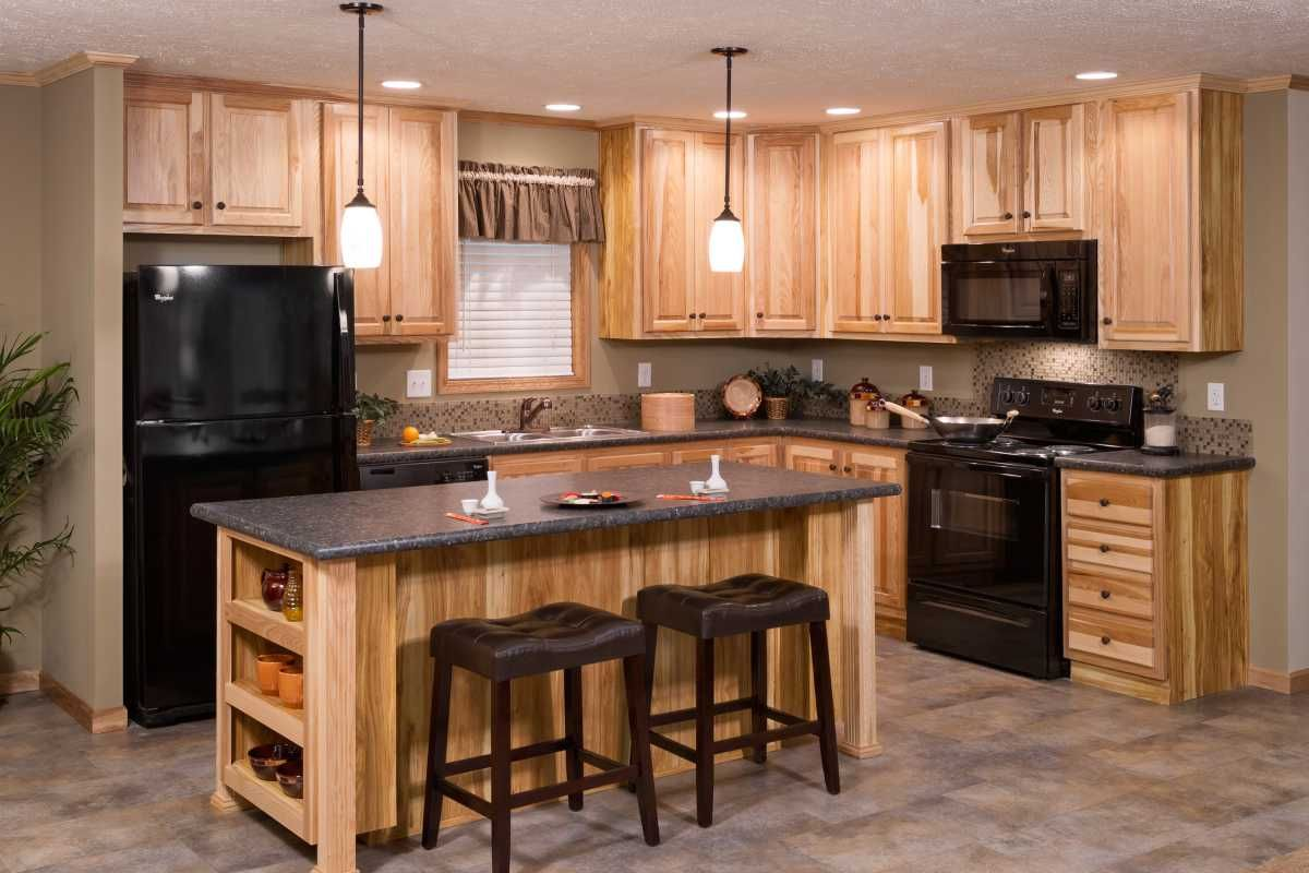 Champion Mobile Home For Sale In Chandler In Hickory Kitchen Cabinets Solid Wood Kitchen Cabinets Rustic Kitchen Cabinets