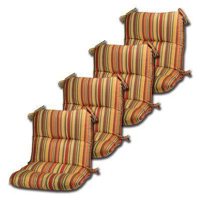 Comfort Classics Hinged Seat And Back Sunbrella Chair Cushion