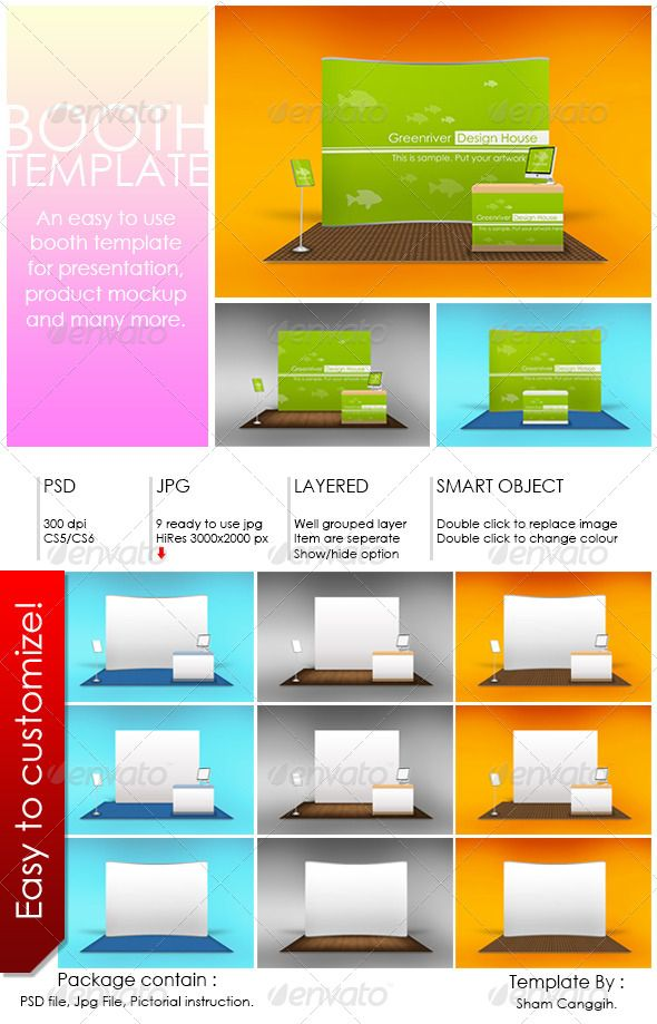 Download Booth Template Part 6 Templates Template Design Booth