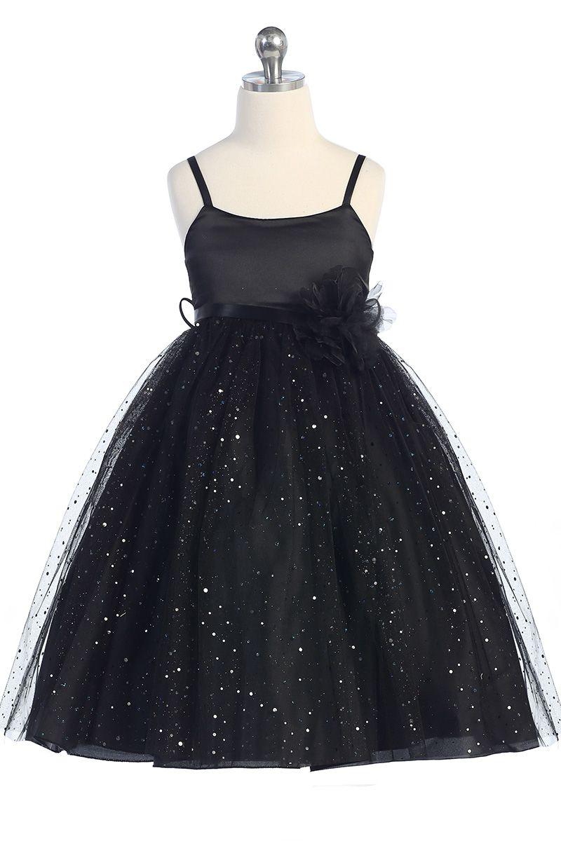 Black ballerina style flower girl dress with sparkles k264 bk 5495 black ballerina style flower girl dress with sparkles k264 bk 5495 on girlsdressline izmirmasajfo