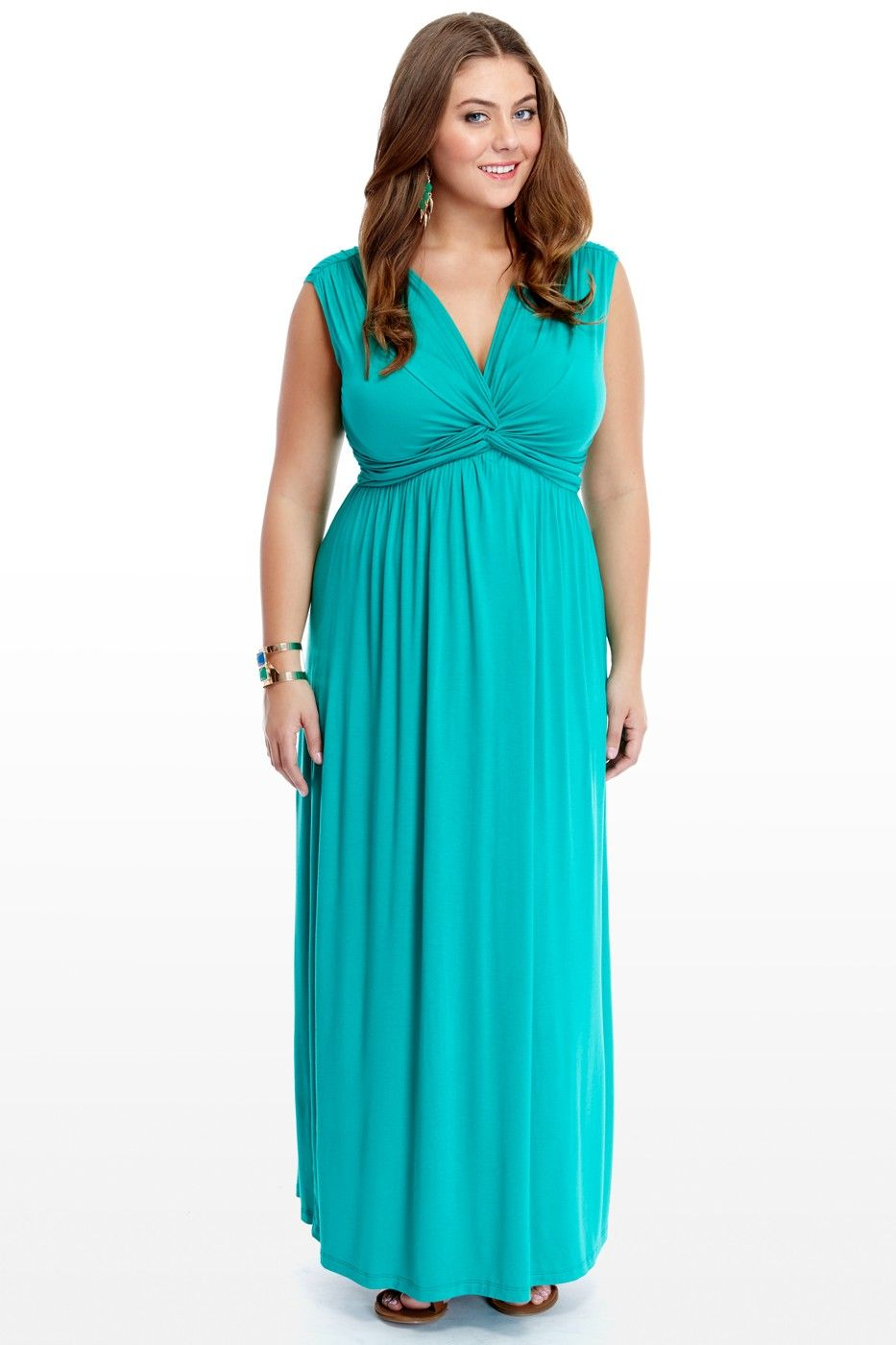 Plus Size Tied Up Knot Maxi Dress | Fashion To Figure | Classy Looks ...