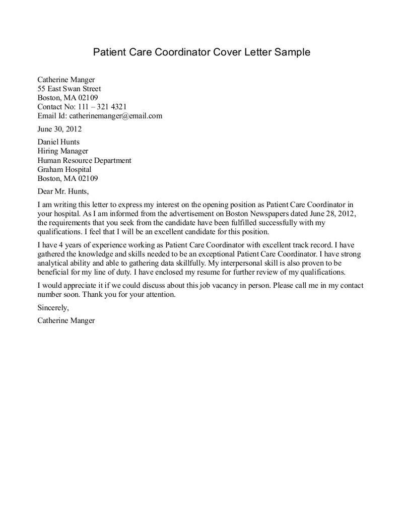 Patient Care Technician Cover Letter No Experience Sasolo Annafora Co