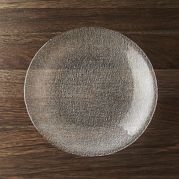 Cotton Clear Dinner Plate | Crate and Barrel & Cotton Clear Dinner Plate | Crate and Barrel | Living room ...
