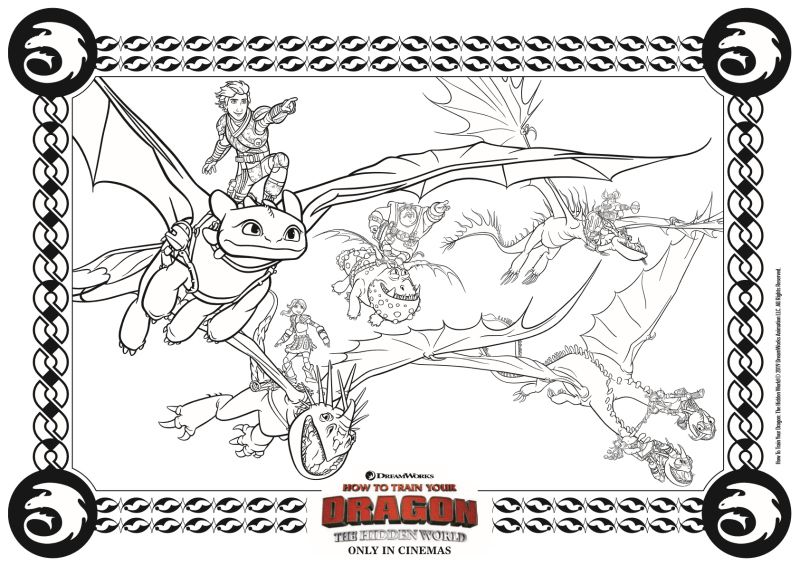 Dragons Coloring Page From How To Train Your Dragon 3 The Hidden World Movie Dragon Coloring Page How Train Your Dragon Pokemon Coloring Pages