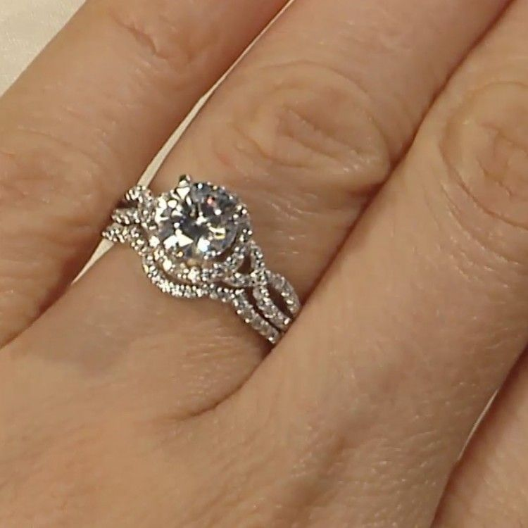 Love That The Engagement Ring And Wedding Band Fit Together Engagement Rings Affordable Best Engagement Rings Lab Created Diamond Rings