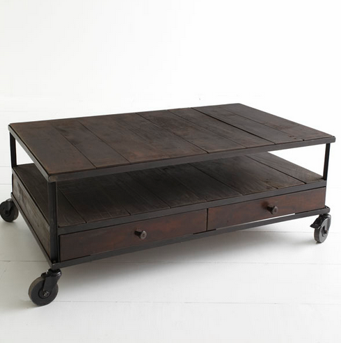 Wisteria French Industrial Coffee Table Look 4 Less Making Things