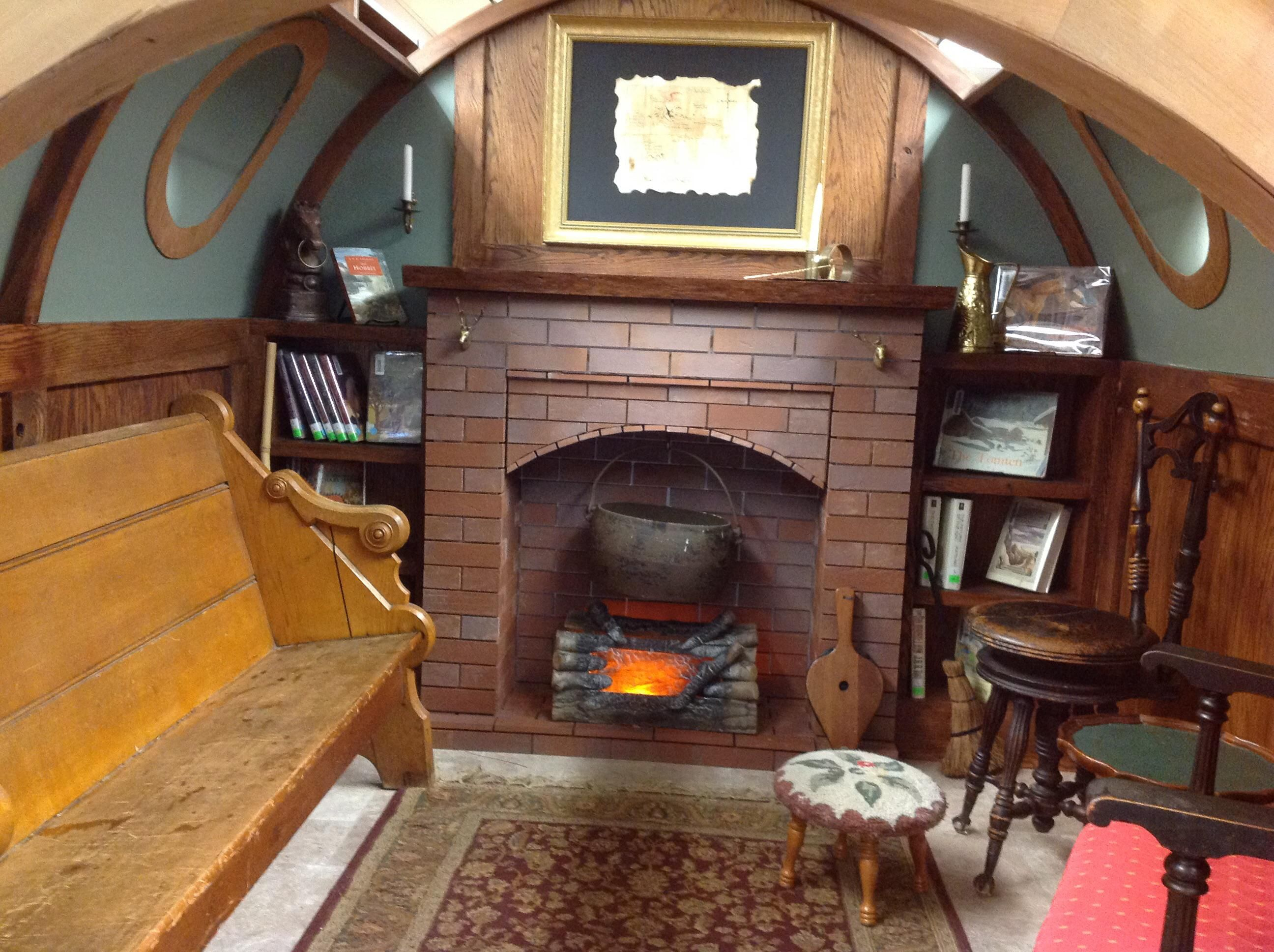 Built This Hobbit House Reading Nook For My Kids School Library Cozy Up And Read A Book Check Out Desigedecors Com To Hobbit House Cozy Place Interior Dsign
