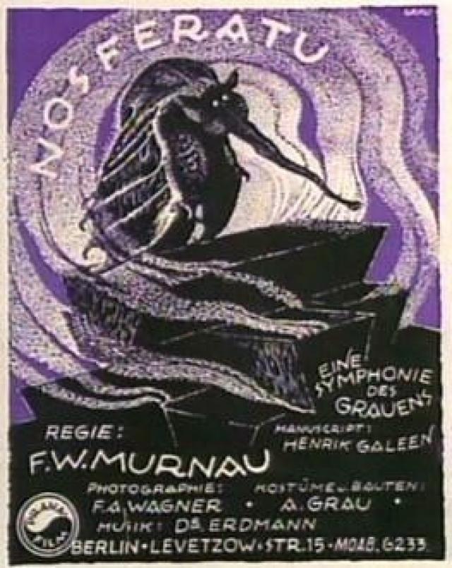 Vintage Nosferatu Posters Nosferatu 1922 Horror Movie