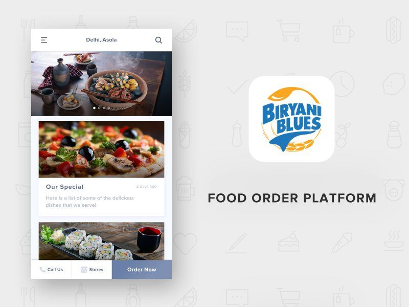 Biryani blues food app ios ui pinterest app ios ui and ui here is a design concept of indian food order app biryani blues which serves their indian famous biryani in all over north area forumfinder Image collections