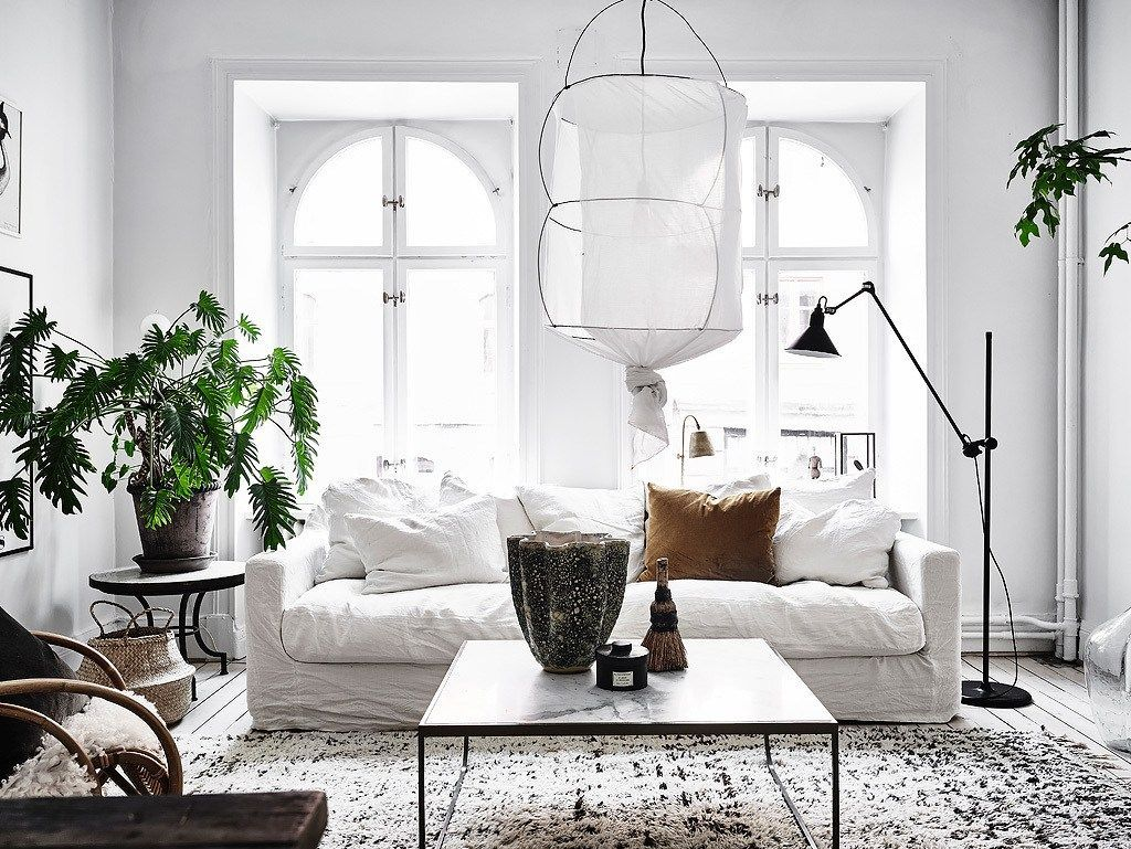 5 scandinavian living rooms with a bohemian twist - Scandinavian Living Room