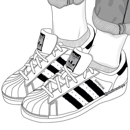 Beautiful artwork · outline, adidas, and shoes image