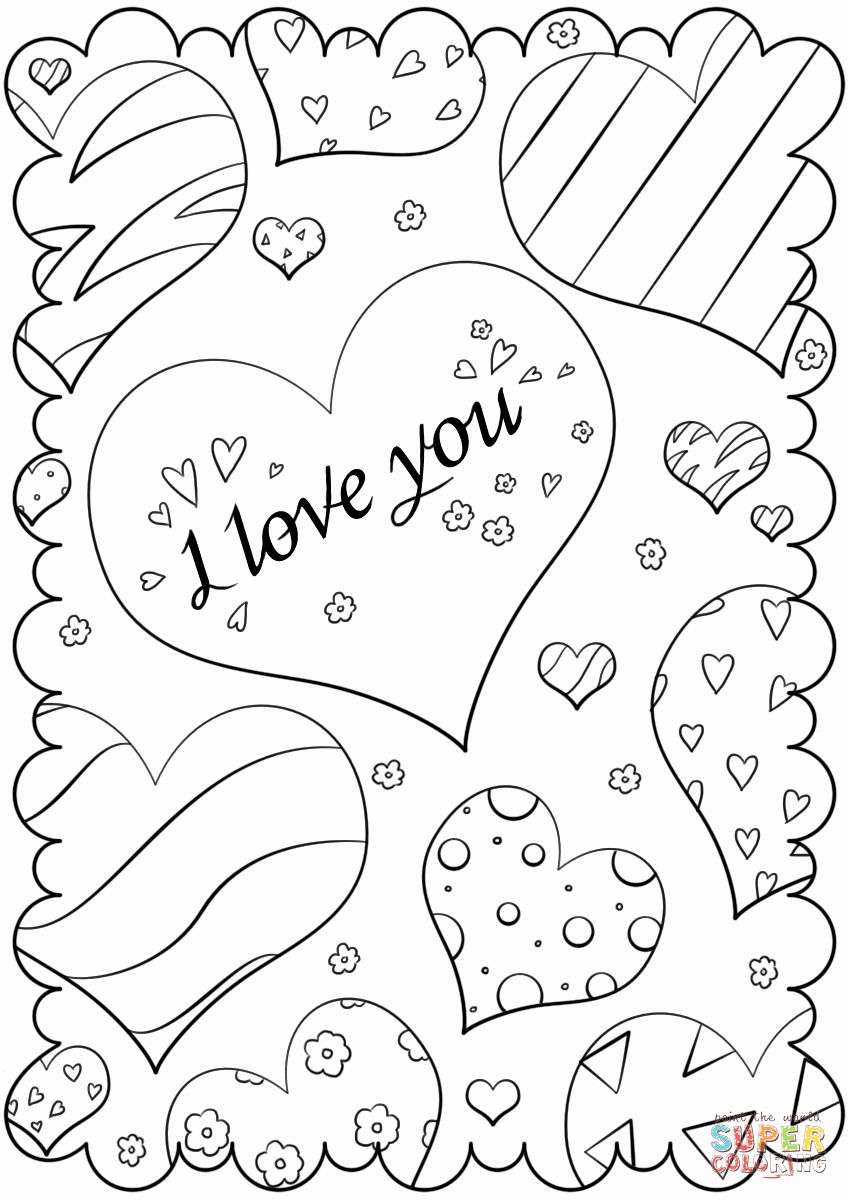 Printable Coloring Valentines Day Cards Elegant Valentine S Day
