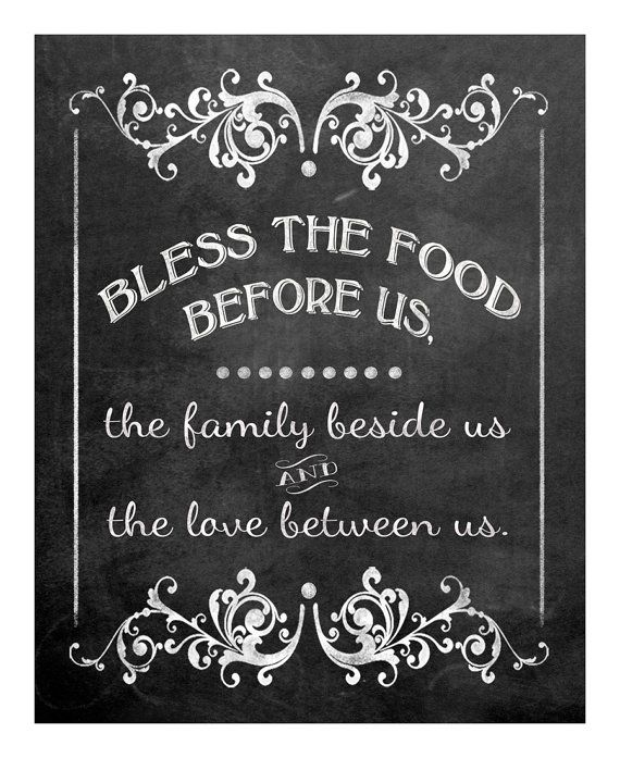 Bless The Food Before Us-Blessing Wedding Sign By