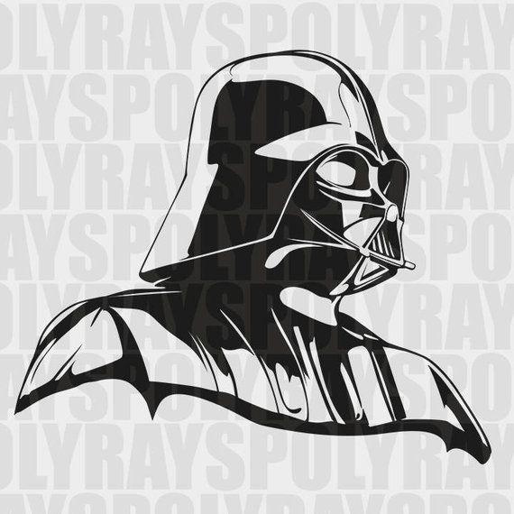 Darth Vader Svg Star Wars Stencil Instant Download Eps Png Pdf Vector File Darth Vader Stenci Star Wars Stencil Star Wars Silhouette Star Wars Drawings