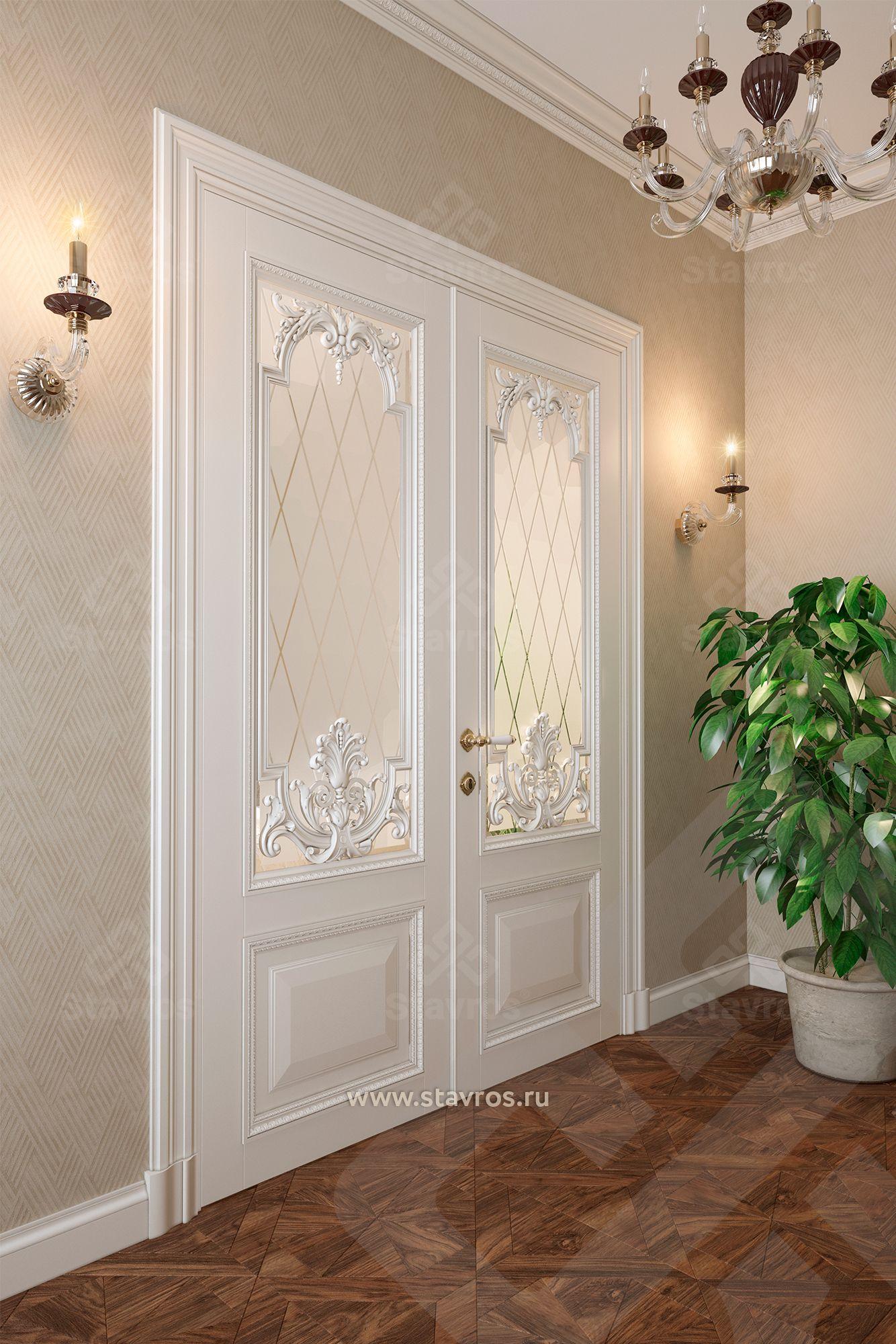 дизайн проект двустворчатые межкомнатные двери из массива