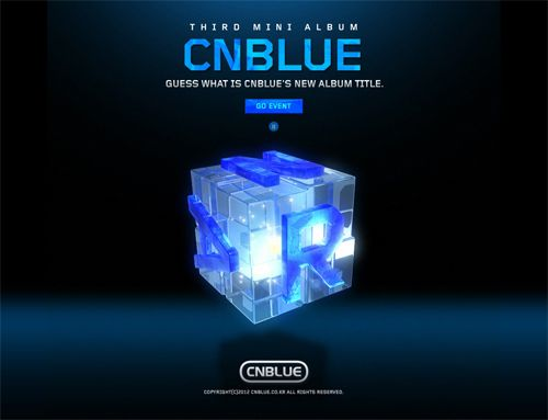 A teaser site image for CNBLUE's 3rd mini album.
