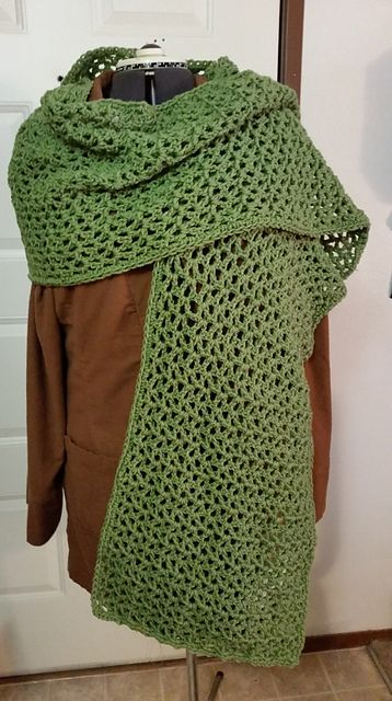 Ravelry: Project Gallery for Crochet Wide Scarf / Prayer Shawl ...