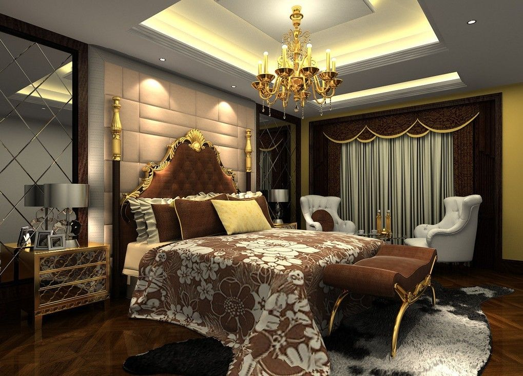Bedroom luxury mansion master interior design five star hotel luxury bedroom interior 3d - Luxury bedroom design ...