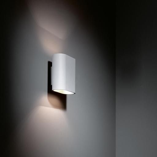 Modular Lighting Duell Wall 1x R7s Wit structuur / champagne ...