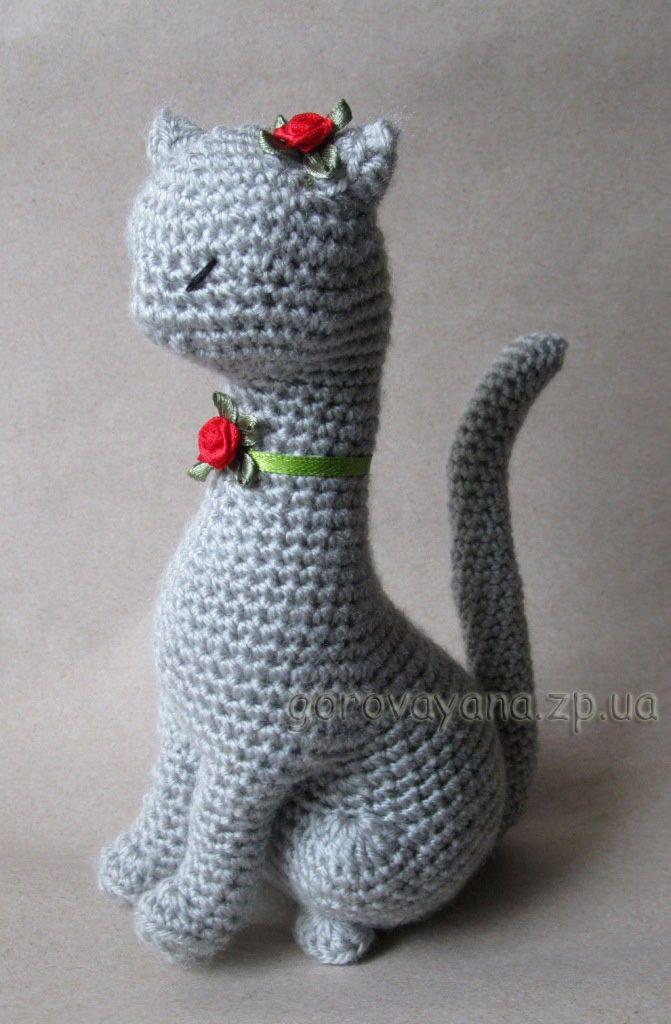 Вязание для кошек с крючком с описанием 73