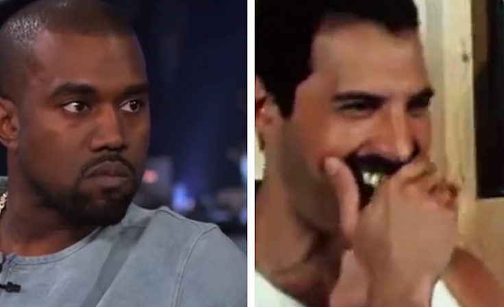 A Lot Of People Are Enjoying This Comparison Of Kanye West And Freddie Mercury S Singing Freddie Mercury Kanye West Have A Laugh