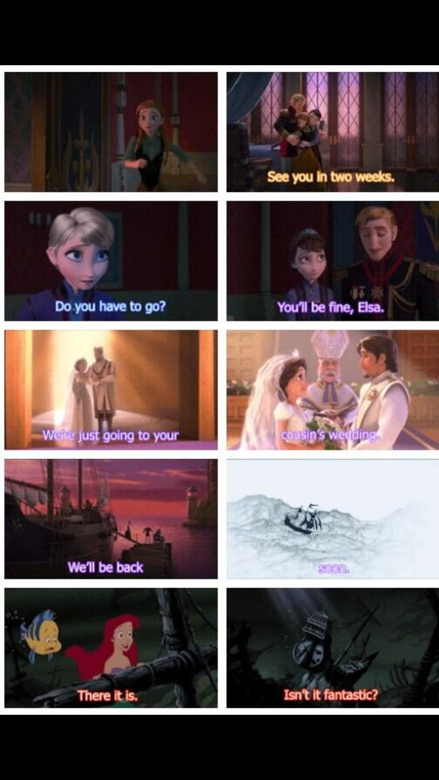 I just really hope this connection is for real. Frozen, Tangled, Little Mermaid, continuations of one another.