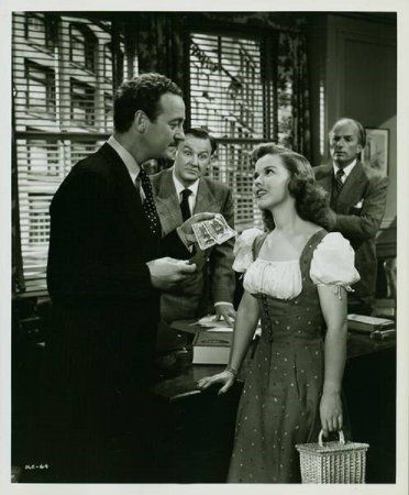 David Niven And Shirley Temple In A Kiss For Corliss 1949