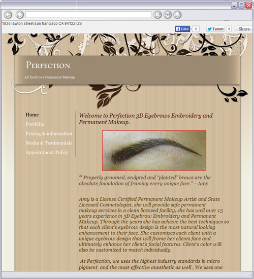 Perfection 3d eyebrow embroidery, Eyebrow embroidery