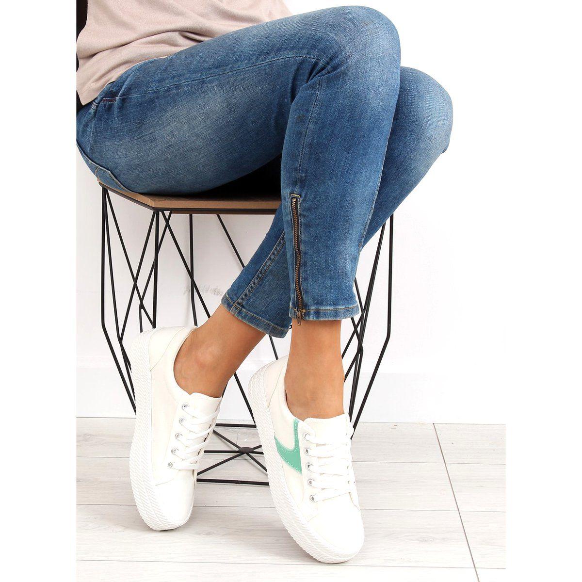 Tenisowki Damskie Obuwiedamskie Trampki Na Wysokiej Podeszwie Biale Blanco Obuwie Damskie High Heel Sneakers Sneaker Heels Insta Fashion
