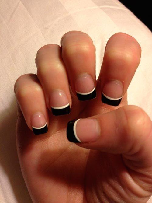 French Tip Mani Designs #Frenchnails | Nail Designs | Pinterest ...
