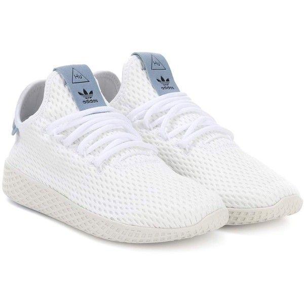 best service aebe9 f5920 adidas Originals   Pharrell Williams Tennis Hu Mesh Sneakers featuring  polyvore, women s fashion, shoes, sneakers, white, mesh tennis shoes, mesh  sneakers, ...