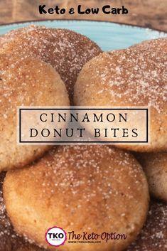 Keto Cinnamon Donut Bites #ketodietforbeginners