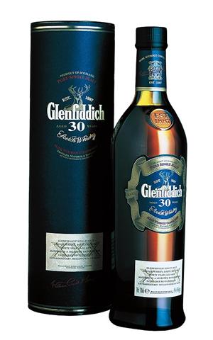 Glenfiddich 30 Year Whisky Bottle Glenfiddich Whisky Single Malt Whiskey