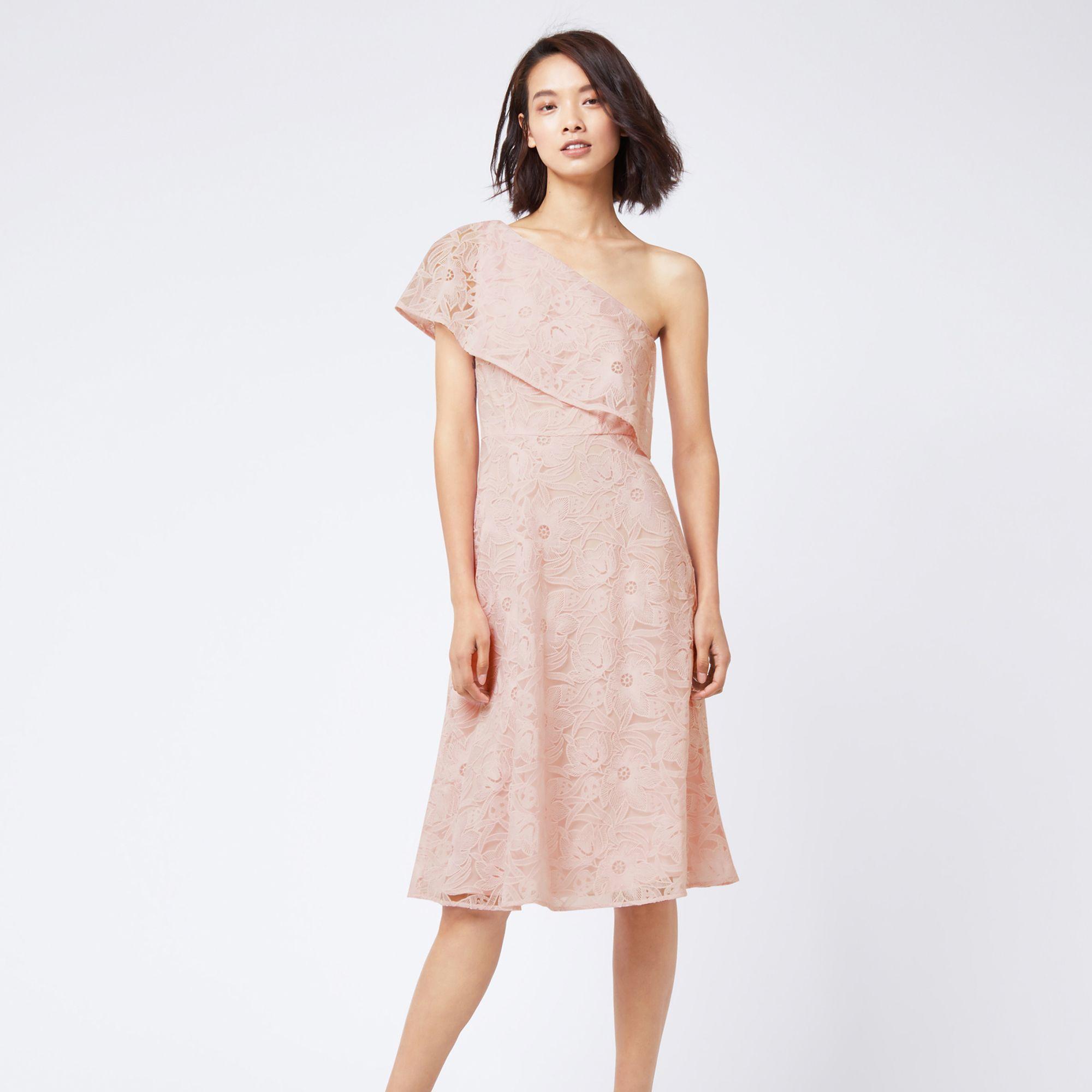 Floral Lace Dress - Light pink Warehouse h50VjO5Dj